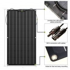 Flexible solar panel 100W 200w 300w 400w 12V panel solar battery charger Monocrystalline solar cell for 1000w home system kit