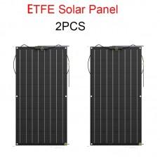 ETFE Flexible Solar Panel 100W 200w Semi System Kit Black Class-A solar mono crystalline solar cell 12V or 24v dc panels 100watt