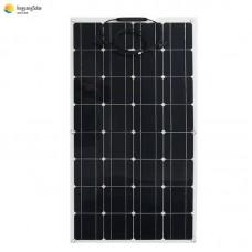 100W 18V semi flexible solar panel monocrystalline solar cell for Marine, camping, Caravan use