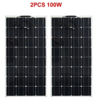 Newly flexible Solar Panel 200W 300W /400W/600W/800W Monocrystalline Solar Cell Flexible panel for 12V 24 Volt system kit
