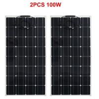 solar panel 100w 12V, flexible solar panel cells from China, cheap solar power panel for mini solar system kit home
