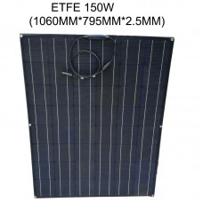 Total Black flexible solar panel ETFE 150W 24v battery charger, semi flexible solar panel, mono solar cell