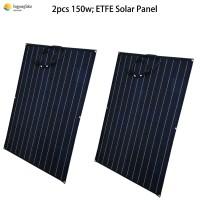 2pcs solar panel 150w flexible semi ETFE monocrystalline solar cell 24v panel solar battery charger solar home system kits