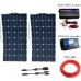 2*100W Sunpower Flexible Solar Panels with 30A Controller and 1000W Inverter 200W solar System Kit for Beginner