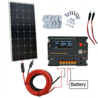 100W 18V Monocrystalline Solar power Panel with 20A solar charger controller for 12V battery mono solar power panel offgrid home